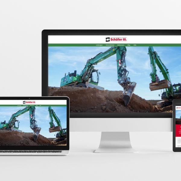 Website Bauunternehmen Schäfer III