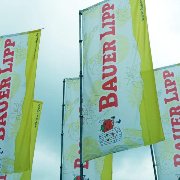 Außenwerbung Fahne Bauer Lipp